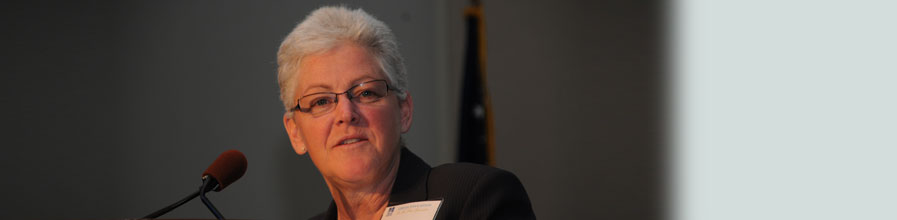 Gina McCarthy '76 is this year's commencement speaker.